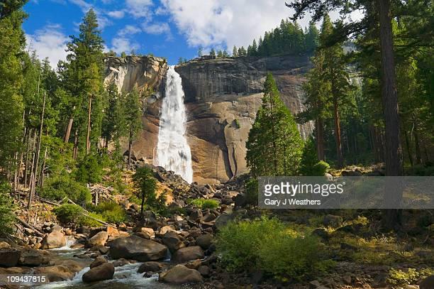 usa, california, yosemite national park, nevada falls - yosemite nationalpark stock pictures, royalty-free photos & images