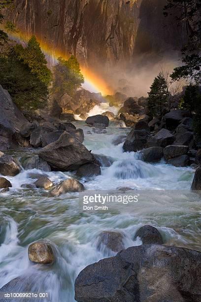 usa, california, yosemite national park, rainbow over yosemite falls - don smith ストックフォトと画像