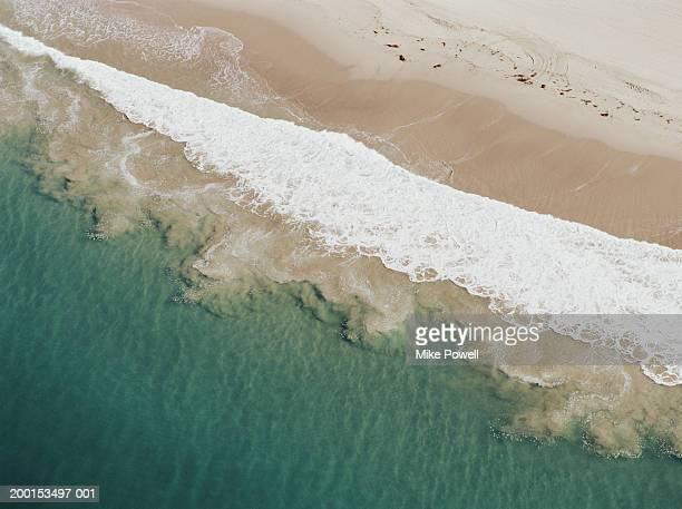 usa, california, zuma beach, aerial view of beach - zuma beach stock photos and pictures