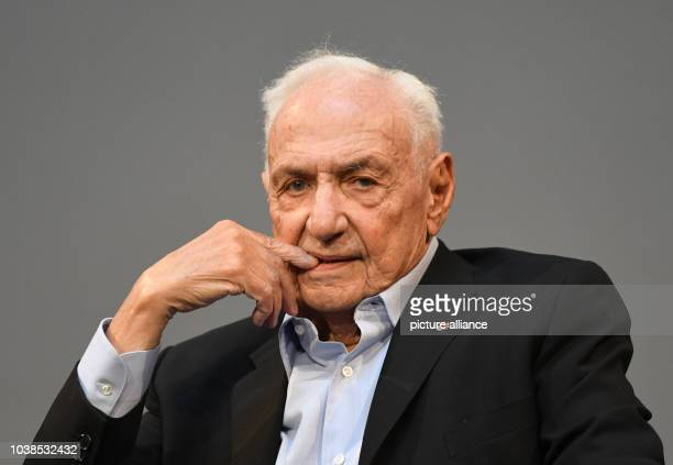 California-based architect and designer Frank Gehry speaks at a press conference in Berlin,Germany, 12 September 2016. Earlier the general musical...