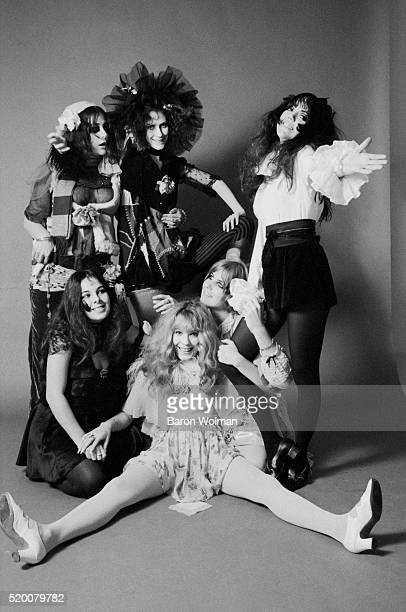 Californian based groupie group called the GTO's pose for a portrait at the AM Studio in Los Angeles CA November 1968
