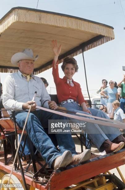 Californie EtatsUnis juin 1976 Ronald Reagan ancien gouverneur de Californie fait campagne lors des primaires du Parti républicain en vue des...