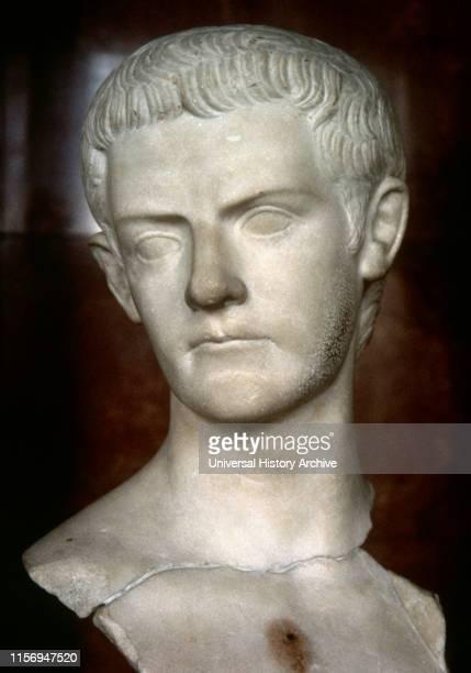 Caligula Roman emperor JulioClaudian dynasty Bust marble Louvre Museum Paris France