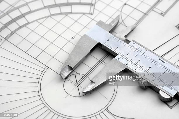 Schieblehre & Bau Plan