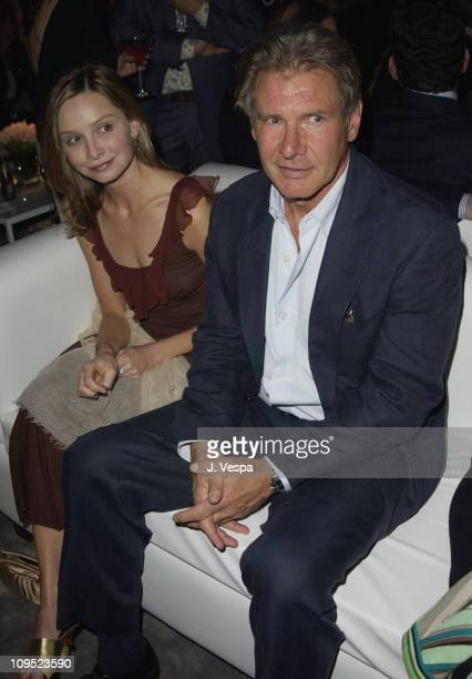 Calista Flockhart and Harrison Ford during Emanuel Ungaro and Barneys New York Fashion Show to Benefit the Rape Treatment Center Inside at Private...