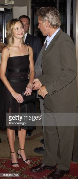 Calista Flockhart and Harrison Ford during K19 The Widowmaker Premiere New York at Ziegfeld Theatre in New York City New York United States