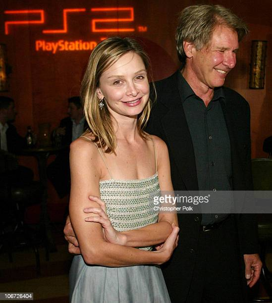Calista Flockhart and Harrison Ford during Playstation 2 Hosts the Movieline Young Hollywood Awards After-Party in Los Angeles, California, United...