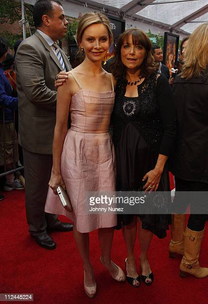 Calista Flockhart and Karen Allen attend BET's 106 Park at the Indiana Jones and the Kingdom of the Crystal Skull New York Premiere May 20 2008 in...