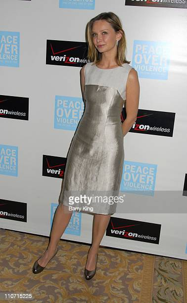 Calista Flockhart attends the Peace Over Violence 36th annual humanitarian awards dinner held at the Beverly Hills Hotel on November 9 2007 in...