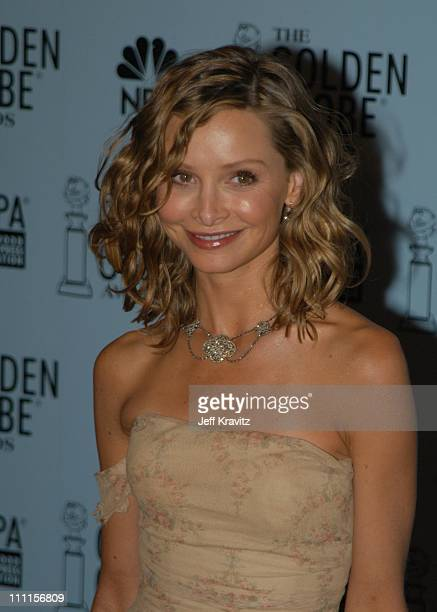 Calista Flockhart during Golden Globes Press Room at Beverly Hilton Hotel in Beverly Hills CA United States
