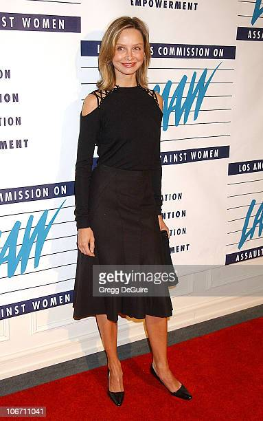 Calista Flockhart during LA Commission on Assaults Against Women Hosts its 31st Annual Humanitarian Awards at Fairmont Miramar Hotel in Santa Monica...