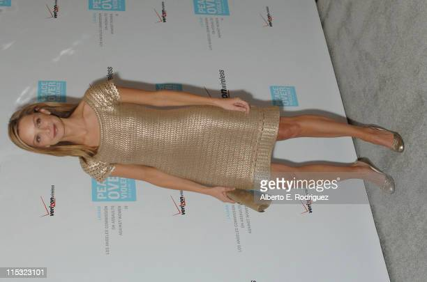 Calista Flockhart during Peace Over Violence Host The 35th Annual Humanitarian Awards Dinner - Arrivals at Beverly Hills Hotel in Beverly Hills,...