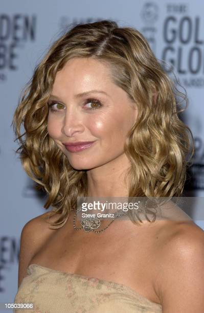 Calista Flockhart during The 60th Annual Golden Globe Awards Press Room at The Beverly Hilton Hotel in Beverly Hills California United States