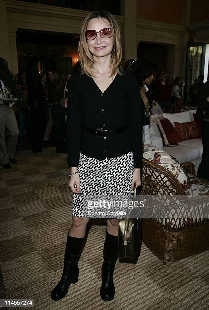 Calista Flockhart during Third Annual Bag Lunch Benefiting PS Arts at Private House in Beverly Hills California United States