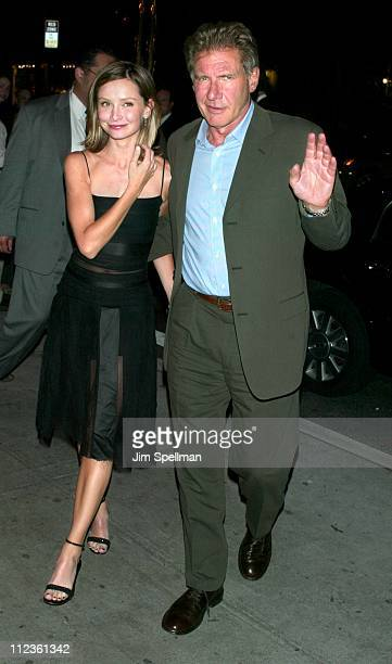 Calista Flockhart Harrison Ford during 'K19 The Widowmaker ' Premiere New York AfterParty at The Russian Tea Room in New York City New York United...