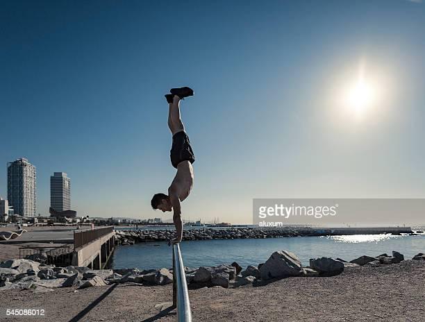 Calisthenics workout in Barcelona Spain