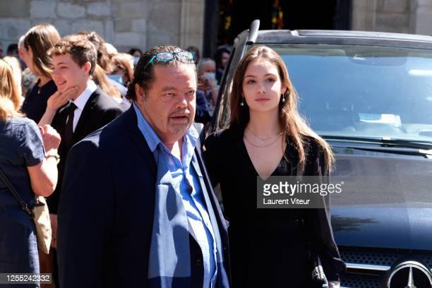 Calixte de Clermont Tonnerre Alastair Cuddeford and Allegra de Clermont Tonnerre attend Duchess Hermine de ClermontTonnerre Funeral at Eglise...