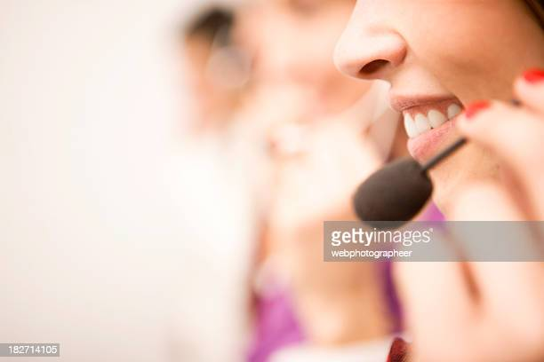call center - receptionist stockfoto's en -beelden