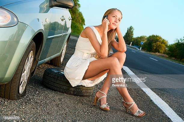 call for help - flat tire stock pictures, royalty-free photos & images