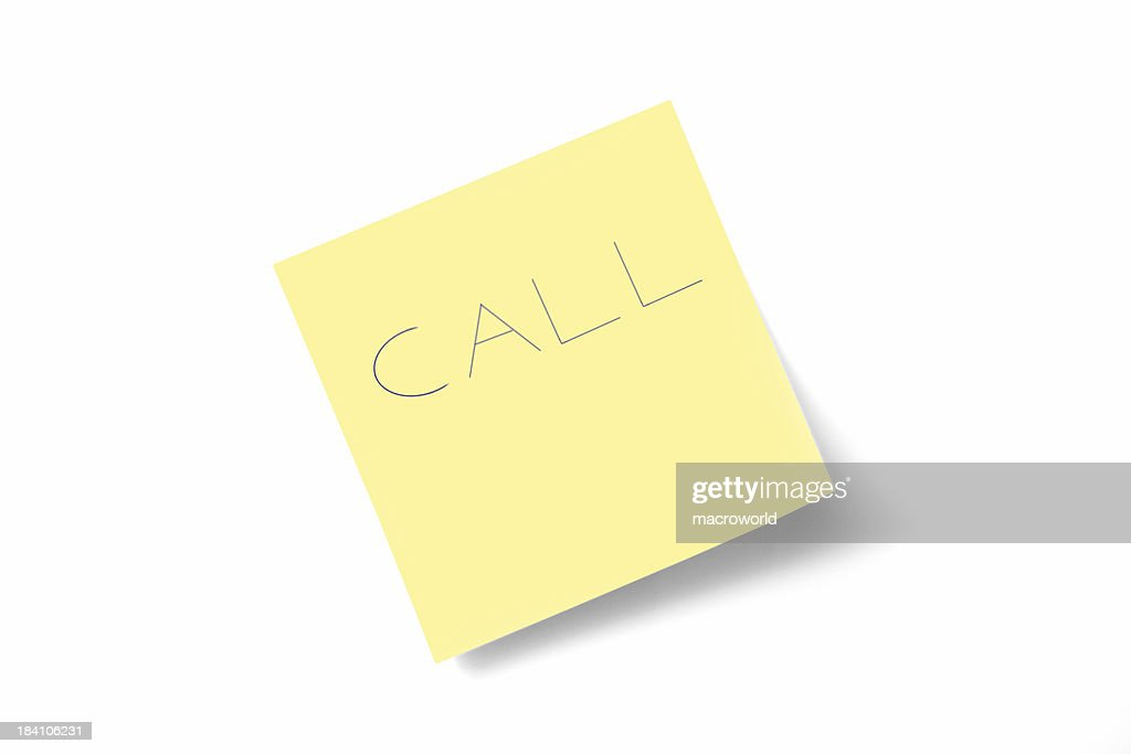 call note : Stock Photo