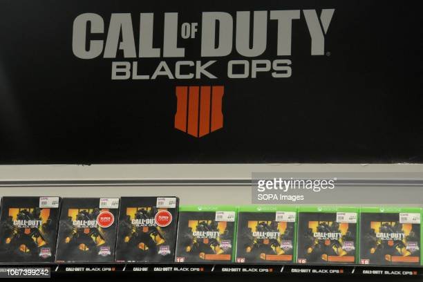 L´HOSPITALET CATALONIA SPAIN Call of Duty Black Ops video game sign seen during the Barcelona Games World Fair