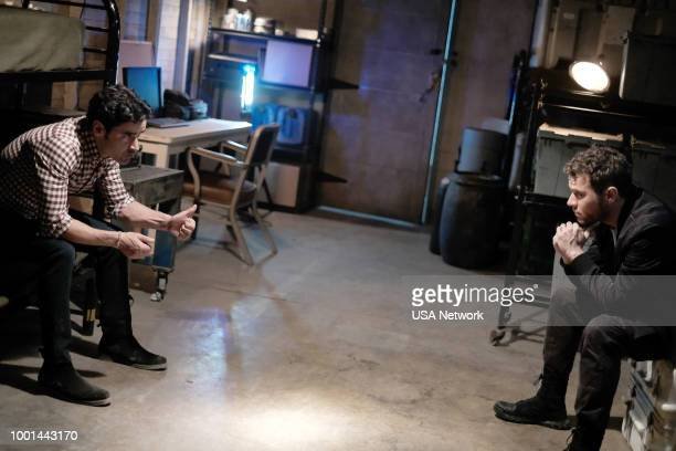 SHOOTER 'A Call to Arms' Episode 305 Pictured Jesse Bradford as Harris Downey Ryan Phillippe as Bob Lee Swagger