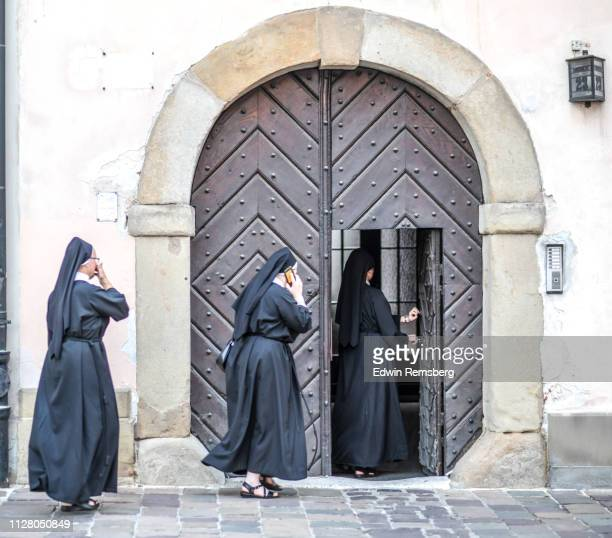 call to prayer - nun stock pictures, royalty-free photos & images