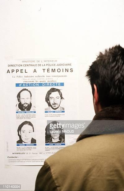 Call witnesses Menigon N J Aubron J M Rouillan G Cipriani in Paris France on March 5 1987