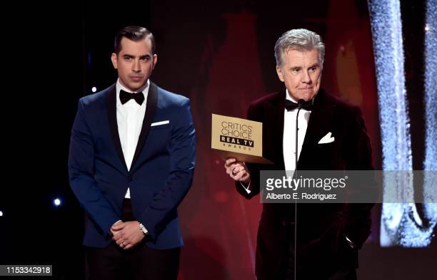 Callahan Walsh and John Walsh speak onstage during the Critics' Choice Real TV Awards at The Beverly Hilton Hotel on June 02 2019 in Beverly Hills...