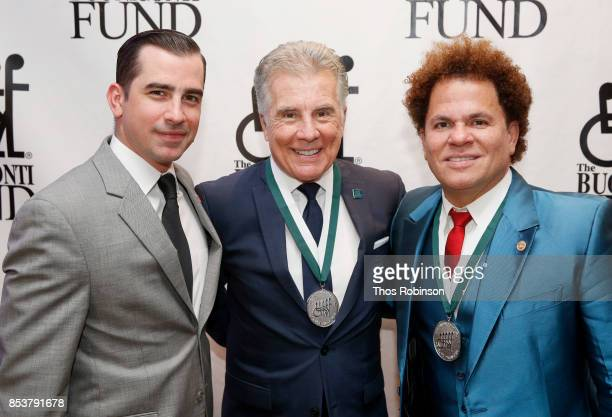 Callahan Walsh John Walsh and Romero Britto attend the 32nd Annual Great Sports Legends Dinner To Benefit The Miami Project/Buoniconti Fund To Cure...