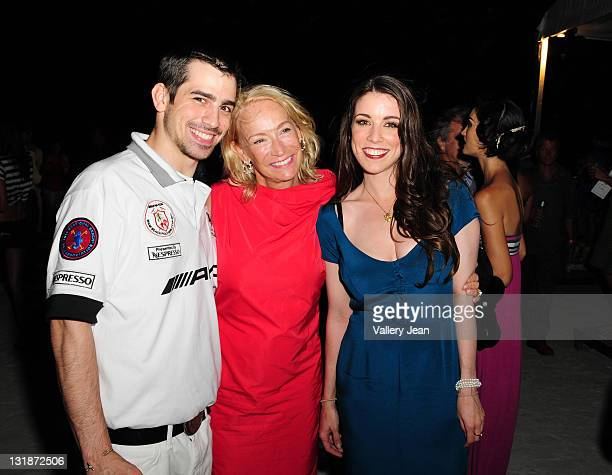 Callahan Walsh Reve Walsh and Meghan Walsh backstage after Meghan Walsh Blank Silk fashion show at the AMG Miami Beach Polo Cup VII kick off on April...