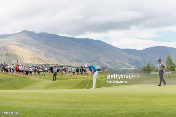 Callan O'Reilly of Australia putts during day four of the ISPS Handa New Zealand Golf Open at Millbrook Golf Resort on March 4 2018 in Queenstown New...