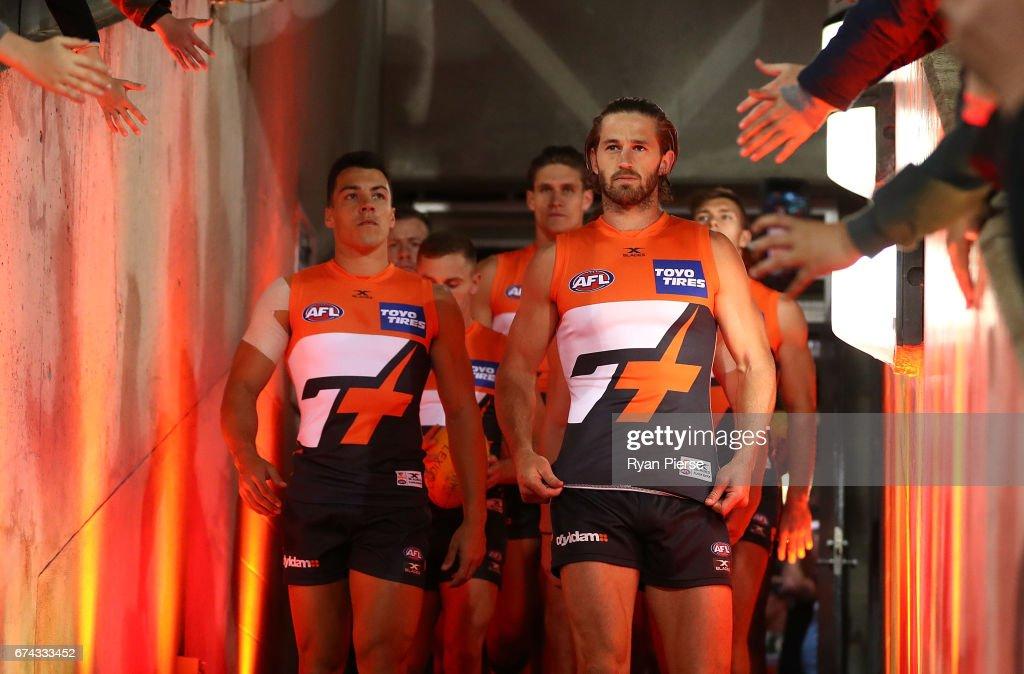 AFL Rd 6 - GWS v Western Bulldogs : News Photo