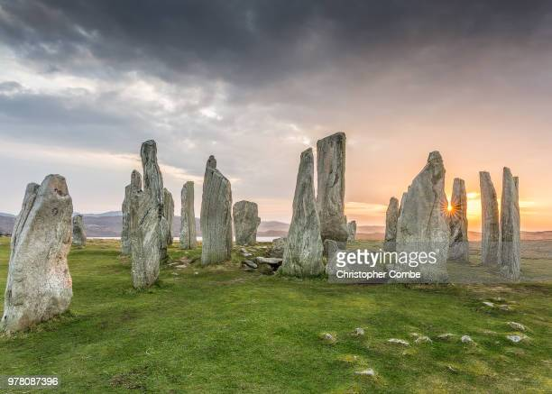 callanish monoliths, isle of lewis, scotland, uk - famous place stock pictures, royalty-free photos & images
