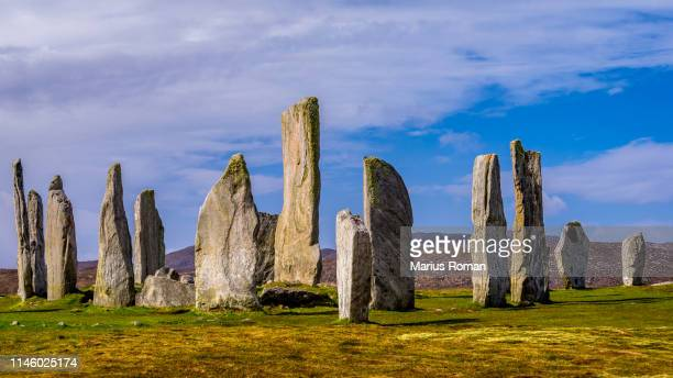 callanish standing stones, isle of lewis, outer hebrides, scotland, uk. - prehistoric era stock pictures, royalty-free photos & images