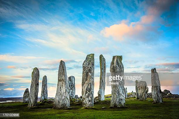 callanish standing stones, isle of lewis - theasis stock pictures, royalty-free photos & images