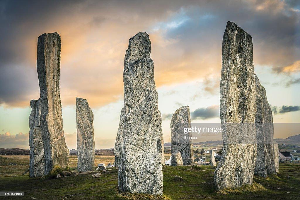 Construção de Pedra de Callanish, Ilha de Lewis : Foto de stock