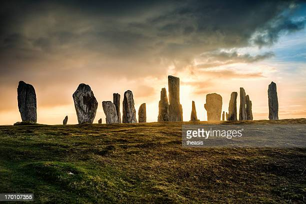 callanish standing stones, isle of lewis - ancient civilization stock pictures, royalty-free photos & images