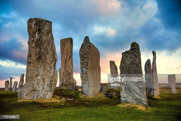 construção de pedra de callanish, ilha de lewis - theasis imagens e fotografias de stock
