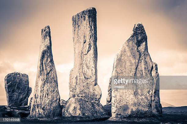 callanish standing stones - theasis stock pictures, royalty-free photos & images