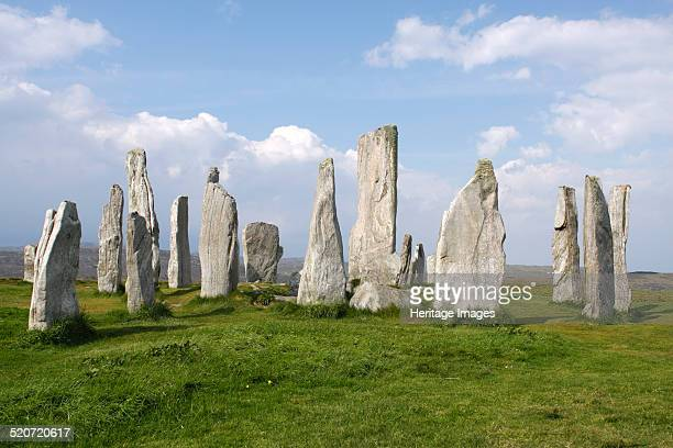 Callanish Stones Isle of Lewis Outer Hebrides Scotland 2009 The Neolithic stone circle at Callanish dates from approximately 2000 BC It consists of a...