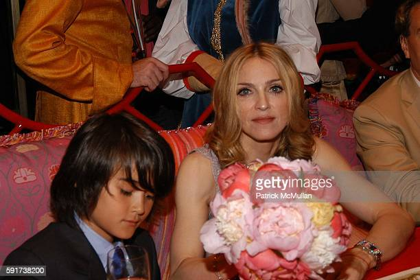 Callaway and Madonna attend Madonna Childrens Book Lotsa de Casha published by Callaway Arts and Entertainment at Bergdorf Goodman on June 7 2005 in...