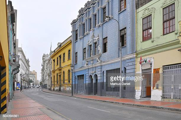 calle carabaya in lima, peru - markus daniel stock pictures, royalty-free photos & images