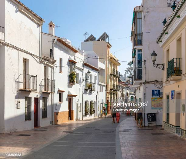 Calle Carabeo, Nerja, Malaga Province, Costa del Sol, Andalusia, southern Spain.