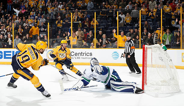 Calle Jarnkrok of the Nashville Predators scores on...