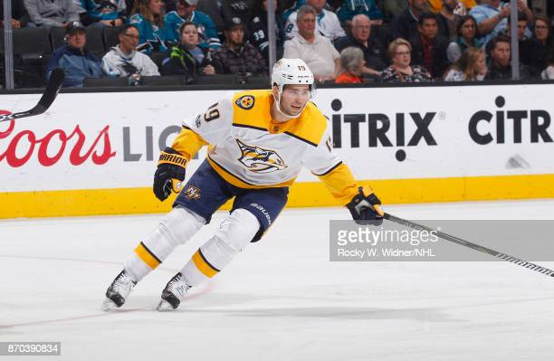 Calle Jarnkrok of the Nashville Predators skates against the San Jose Sharks at SAP Center on November 1 2017 in San Jose California
