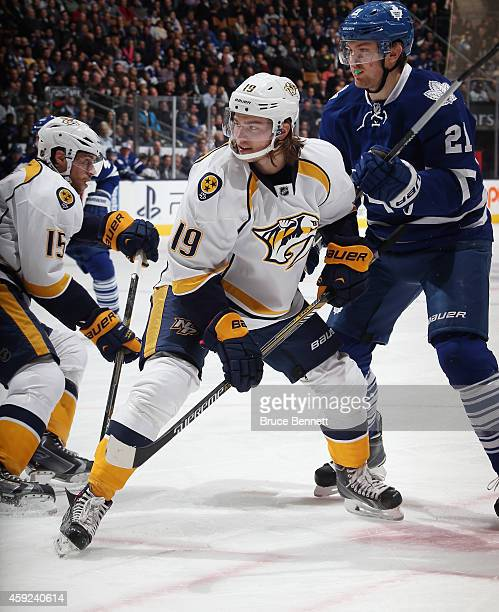 Calle Jarnkrok of the Nashville Predators skates against the Toronto Maple Leafs at the Air Canada Centre on November 18 2014 in Toronto Canada The...
