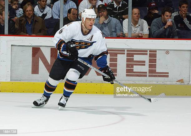 Calle Johansson of the Washington Capitals skates during the NHL game  against the Colorado Avalanche at 790ac18bec5f