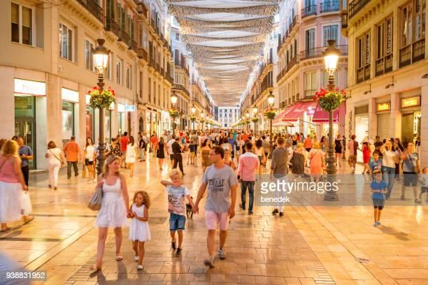 Calle Larios shoppinggata i centrala Malaga Spanien