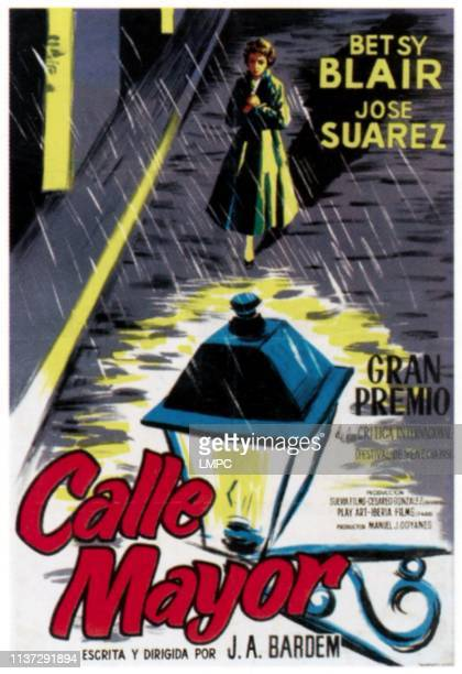 Calle Mayor poster Betsy Blair on Spanish poster art 1956